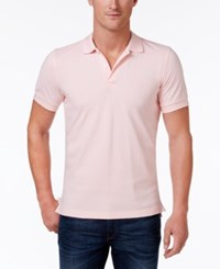 Brooks Brothers Red Fleece Men's Pique Knit Cotton Polo Light Pink