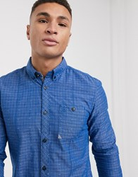 Tom Tailor Structured Shirt In Blue