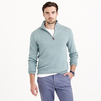 J.Crew Cotton Cashmere Half Zip Sweater