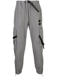 Off White Tape Strap Track Pants Grey