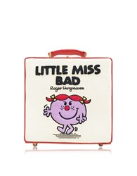 Olympia Le Tan 7 Inch Little Miss Bad Cream Cotton And Leather Handbag