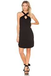 Lanston Cross Front Mini Dress Black