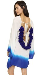 Sundress Indiana Ombre Short Beach Dress White Royal Blue