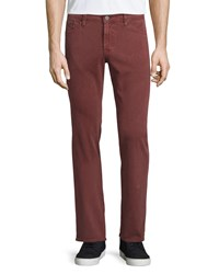 Ag Adriano Goldschmied Graduate Sulfur Sumac Jeans Washed Bright Red