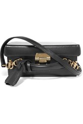 Mark Cross Grace Small Textured Leather Box Shoulder Bag Black