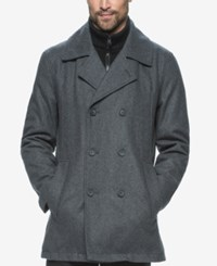 Marc New York Cheshire Wool Blend Bibby Peacoat Charcoal