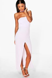 Boohoo Choker Neck Bandeau Maxi Dress Violet