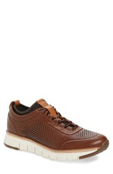 Cole Haan Men's Zerogrand Sneaker Woodbury Dark Roast Ivory