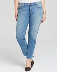 Eileen Fisher Plus Boyfriend Jeans In Faded Blue