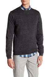 Ben Sherman Merino Wool Crew Neck Sweater Red