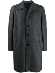 Harris Wharf London Single Breasted Wool Coat Grey