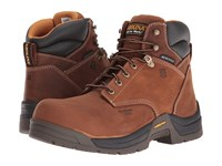 Carolina 6 Waterproof Broad Composite Toe Work Boot Copper Crazyhorse Men's Work Boots Brown