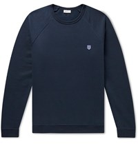 Schiesser Vincent Fleece Back Cotton Jersey Sweatshirt Blue