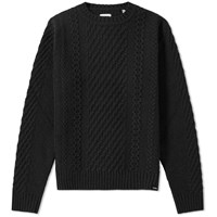 Edwin United Crew Knit Black