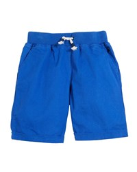 Joules Huey Cotton Drawstring Rolled Cuff Shorts Blue