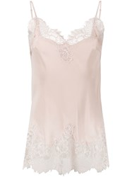 Gold Hawk Lace Trim Cami Pink And Purple