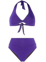 Fisico Knotted Triangle Top Bikini Set 60