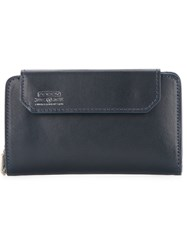 As2ov Front Flap Wallet Bullhide Leather Blue