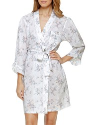 Eileen West Floral Wrap Robe