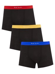 Paul Smith Pack Of Three Cotton Blend Boxer Briefs Black Multi