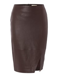 Linea Limited Leather Skirt Berry