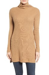 Halogenr Women's Halogen Funnel Neck Tunic Heather Camel