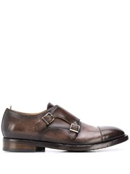 Officine Creative Emory Monk Strap Shoes Brown