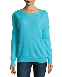 Minnie Rose Cashmere Relaxed Pullover Sweater Ocean Drive