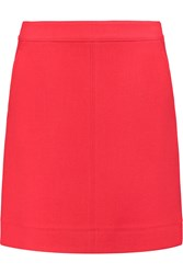Dkny Wool Twill Mini Skirt Pink