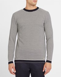 Armor Lux Blue Mecmor Jacquard Heritage Tricot Sweater