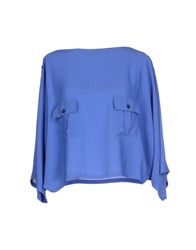 Mauro Grifoni Shirts Blouses Women Bright Blue