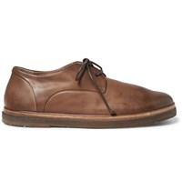 Marsell Washed Leather Derby Shoes Brown