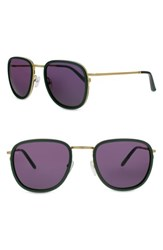 Smoke X Mirrors Women's 51Mm Sunglasses Green Matte Gold Green Matte Gold