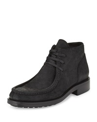Crawford Leather Moccasin Boot Black Vince