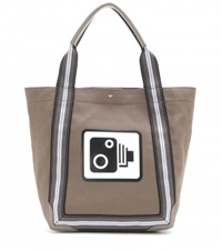 Anya Hindmarch Speed Camera Pont Canvas Shopper Brown