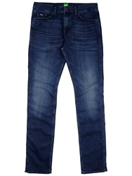 Boss Logo Boss Green C Delaware Slim Fit Jeans Mid Blue Wash