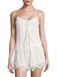 In Bloom Kiss The Sky Lace Trim Camisole And Shorts Set Ivory