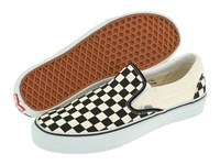 Vans Classic Slip On Core Classics Black And White Checker White Canvas Shoes