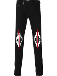 Marcelo Burlon County Of Milan Graphic Print Slim Jeans Black
