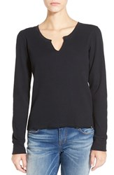 Volcom Women's 'Going Up' Long Sleeve Thermal Top Black