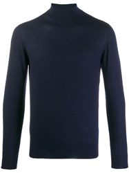 Cruciani Cashmere Turtleneck Jumper Blue