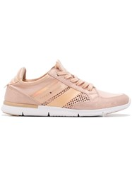 Tommy Hilfiger Panelled Lace Up Sneakers Pink