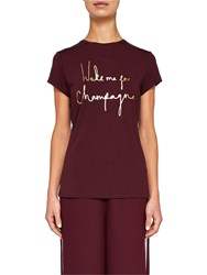 Ted Baker Says Relax Lolyata Wake Me Up For Champagne T Shirt Oxblood