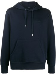 J. Lindeberg J.Lindeberg Chip Embroidered Logo Hoodie Blue