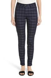 St. John 'S Collection Gingham Skinny Jeans Denim