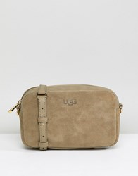 Ugg Janey Grey Suede Crossbody Bag