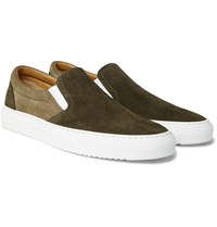 Mr P. Larry Suede Slip On Sneakers Green