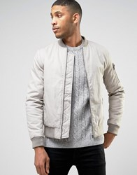 New Look Ma1 Bomber In Stone Stone