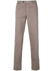 Berwich Slim Fit Trousers Brown
