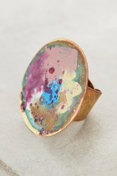 Anthropologie Springbeam Circle Ring Lilac